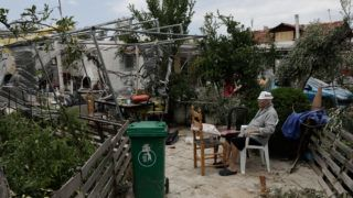 Extensive damages caused by severe weather conditions, leaving behind 6 dead, at Sozopoli, Chalkidiki, Northern Greece, on July 11, 2019. Konstantinos Tsakalidis / SOOC