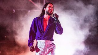 Jared Leto of american alternative rock band Thirty Seconds To Mars performing live at Collisioni Festival 2019 in Barolo, in the heart of the Langhe Hills, in Piedmont, northern Italy, on 7 July 2019.(Photo by Roberto Finizio/NurPhoto via Getty Images)