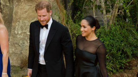 Prince Harry and Meghan, Duchess of Sussex, attend the European film premiere of Disney's 'The Lion King' at Odeon Luxe Leicester Square on 14 July, 2019 in London, England (Photo by WIktor Szymanowicz/NurPhoto)
