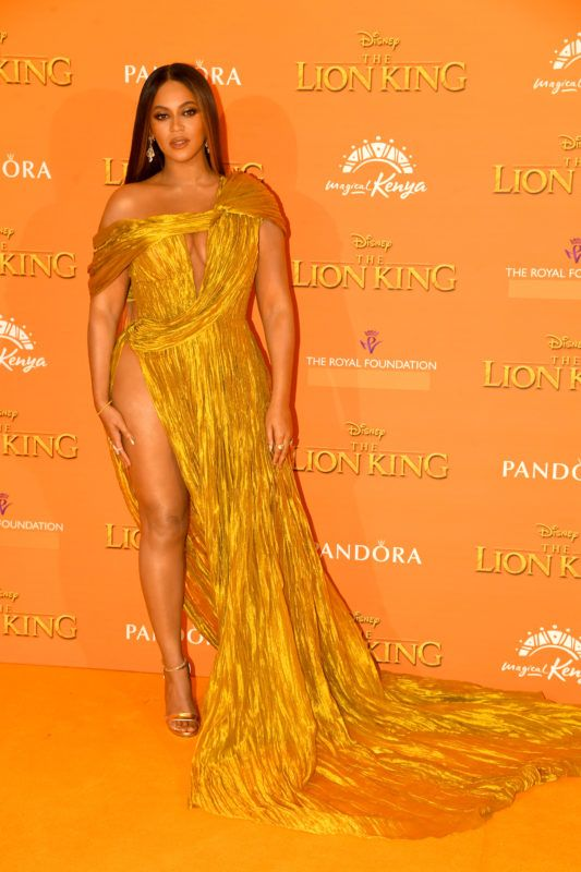 """LONDON, ENGLAND - JULY 14: Beyonce Knowles-Carter attends """"The Lion King"""" European Premiere at Leicester Square on July 14, 2019 in London, England. (Photo by Dave J Hogan/Getty Images)"""