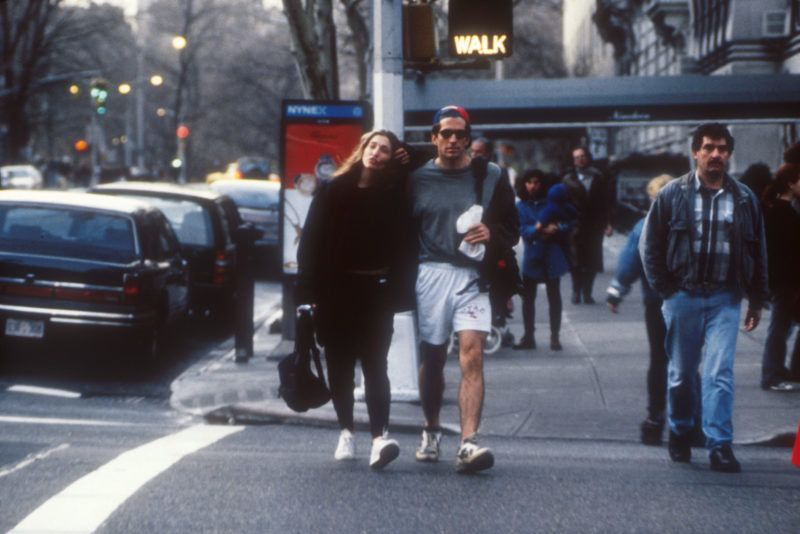 P 281322 01: John F. Kennedy Jr. and Caroline Bessette walking on the streets of NYC, New York, September 20, 1996. (Photo by Arnaldo Magnani / Liaison Agency)