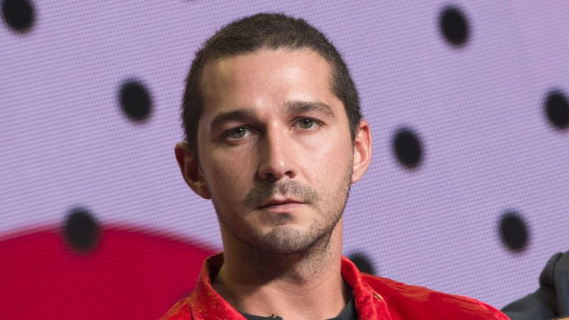 """Actor Shia LaBeouf attends the press conference for """"Borg/McEnroe"""" during the 2017 Toronto International Film Festival at TIFF Bell Lightbox September 7, 2017, in Toronto, Ontario. (Photo by VALERIE MACON / AFP)"""