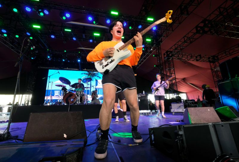 INDIO, CA - APRIL 21: Nicolas Pablo Muñoz of Boy Pablo performs at Gobi Tent during the 2019 Coachella Valley Music And Arts Festival on April 21, 2019 in Indio, California.   Frazer Harrison/Getty Images for Coachella/AFP