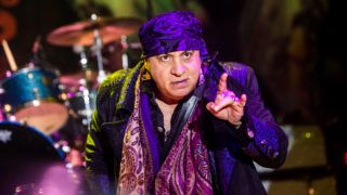 """Steven Van Zandt, an American musician, songwriter, producer, actor, and activist who frequently goes by the stage names Little Steven, performs live at Alcatraz in Milano, Italy, on June 13 2019. He is a member of Bruce Springsteen's E Street Band, in which he plays guitar and mandolin. He is also known for his roles on television dramas such as Silvio Dante on The Sopranos (1999–2007) and Frank Tagliano / Giovanni """"Johnny"""" Henriksen on Lilyhammer (2012–2014). Van Zandt also has had his own solo band called Little Steven and The Disciples of Soul, active on and off since the 1980s. In 2014, Van Zandt was inducted into the Rock and Roll Hall of Fame as a member of the E Street Band. (Photo by Mairo Cinquetti/NurPhoto)"""