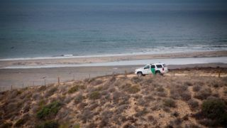 US-Border patrol securing the Mexico?United States border, in October 2017. | usage worldwide