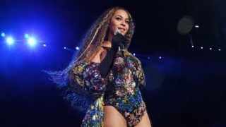 JOHANNESBURG, SOUTH AFRICA - DECEMBER 02: Beyonce performs during the Global Citizen Festival: Mandela 100 at FNB Stadium on December 2, 2018 in Johannesburg, South Africa.  (Photo by Kevin Mazur/Getty Images for Global Citizen Festival: Mandela 100)