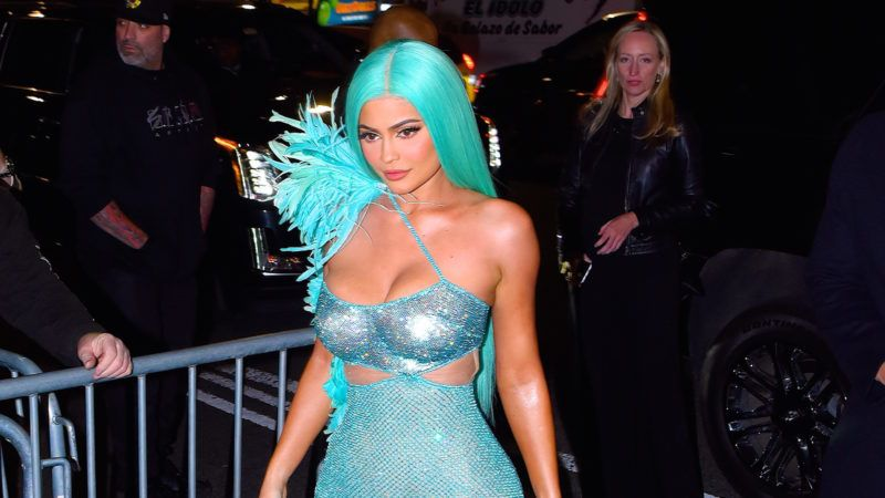 NEW YORK, NY - MAY 06:  Kylie Jenner seen out on the 2019 MET Gala day on  May 6, 2019 in New York City.  (Photo by Robert Kamau/GC Images)
