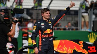 BUDAPEST, HUNGARY - AUGUST 03: Pole position qualifier Max Verstappen of Netherlands and Red Bull Racing celebrates in parc ferme during qualifying for the F1 Grand Prix of Hungary at Hungaroring on August 03, 2019 in Budapest, Hungary. (Photo by Dan Mullan/Getty Images)