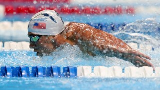 OMAHA, NE - JUNE 29: Michael Phelps of the United States competes in the final heat for the Men's 200 Meter Butterfly during Day Four of the 2016 U.S. Olympic Team Swimming Trials at CenturyLink Center on June 29, 2016 in Omaha, Nebraska.   Tom Pennington/Getty Images/AFP