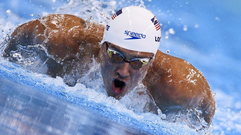 "(FILES) This file photo taken on August 10, 2016 shows USA's Ryan Lochte as he competes in a Men's 200m Individual Medley heat during the swimming event at the Rio 2016 Olympic Games at the Olympic Aquatics Stadium in Rio de Janeiro.   US Olympic swimmer Ryan Lochte, who had falsely claimed he and three teammates were robbed in Rio, apologized August 19, 2016 for his behavior, saying he should have been ""more careful and candid"" in explaining what happened.""I should have been much more responsible in how I handled myself and for that am sorry to my teammates, my fans, my fellow competitors, my sponsors and the hosts of this great event,"" Lochte said in a statement carried on Twitter and Instagram.    / AFP PHOTO / Martin BUREAU"