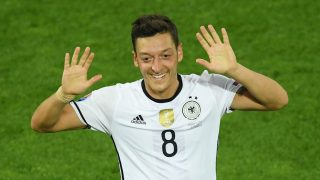 BORDEAUX, FRANCE - JULY 2: Mesut Ozil of Germany celebrates after scoring a goal during the UEFA Euro 2016 quarter final match between Germany and Italy at Stade de Bordeaux in Bordeaux, France on July 2, 2016.