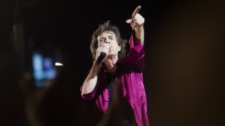 HAVANA, CUBA - MARCH 26: Lead vocalist of English Rock Band Rolling Stones, Mickk Jagger performs on the stage during their concert at the Ciudad Deportiva in Havana, Cuba on March 26, 2016.  Enrique Castro Sanchez / Anadolu Agency