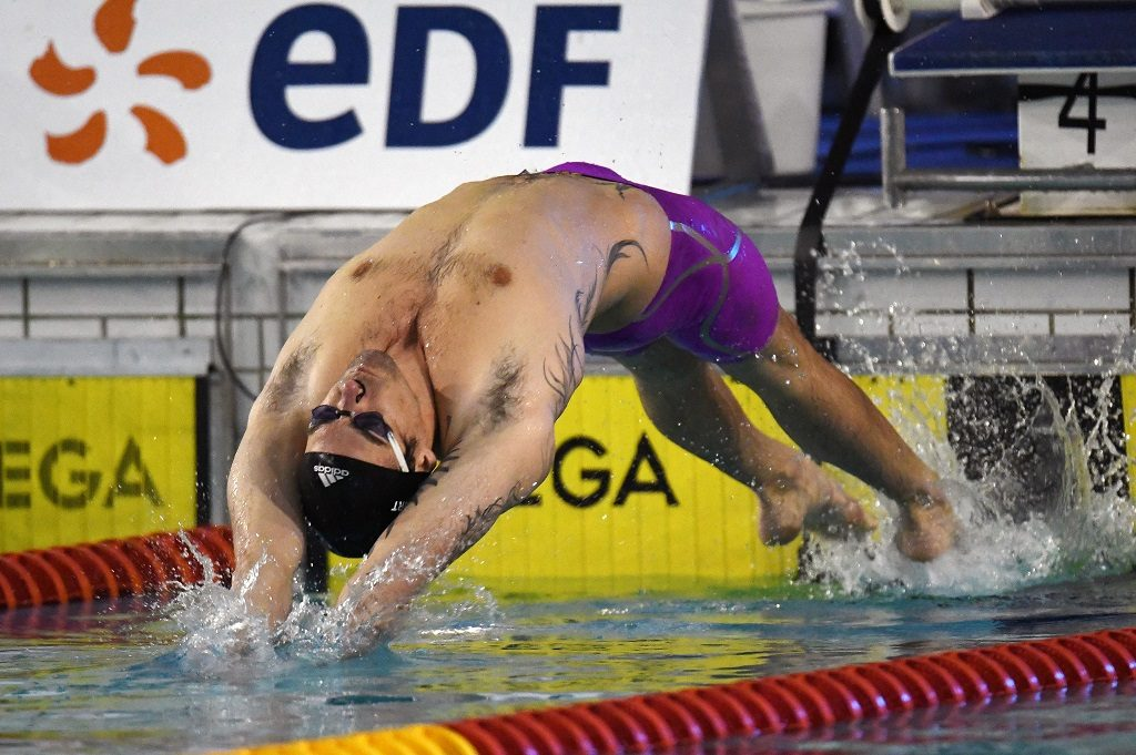 Camille Lacourt (FRA) competes and wins on Men's 50 m Butterfly final during the Meeting Open Mediterranée, FFN Golden Tour Camille-MUFFAT 2017, at Cercle des Nageurs in Marseille, France - Photo Stephane Kempinaire / KMSP / DPPI