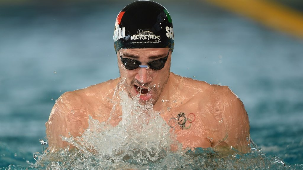 Fabio Scozzoli (ITA) competes on 100 m Breaststroke during the Meeting Marseille 2015, FFN Golden Tour, in France, on March 13 to 15, 2015. Photo Stephane Kempinaire / KMSP / DPPI