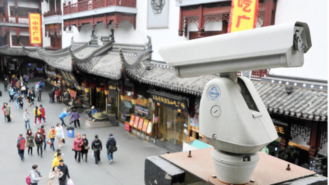 --FILE--A surveillance camera monitors tourists visiting Yu Garden in Shanghai, China, 12 January 2015.China will ensure that all key public areas are covered with video surveillance cameras by 2020 to fight crime and ensure social stability, the government said on Wednesday (13 May 2015), part of a broader push to step up security in response to violent unrest. China has already taken a series of measures to prevent attacks by extremists, including plans for an anti-terrorism law that would give the government broader surveillance powers and offering to pay for tips about violent plots. Places such as roads will be fully covered by cameras and information their gather will be shared with the authorities, the country's top economic planner, the National Development and Reform Commission, said in a statement.