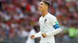 firo: 20.06.2018, Moscow, Football, Soccer, National Team, World Cup 2018 in Russia, Russia, World Cup 2018 in Russia, Russia, World Cup 2018 Russia, Russia, M19, Portugal - Morocco 1: 0 POR Cristiano Ronaldo, wit humor, tongue out, highlight | usage worldwide