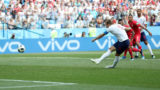 NIZHNY NOVGOROD, RUSSIA - JUNE 24:  Harry Kane of England scores his team's second goal from the penalty spot during the 2018 FIFA World Cup Russia group G match between England and Panama at Nizhny Novgorod Stadium on June 24, 2018 in Nizhny Novgorod, Russia.  (Photo by Alex Morton/Getty Images)