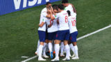 England's players celebrate a goal during the Russia 2018 World Cup Group G football match between England and Panama at the Nizhny Novgorod Stadium in Nizhny Novgorod on June 24, 2018. / AFP PHOTO / Johannes EISELE / RESTRICTED TO EDITORIAL USE - NO MOBILE PUSH ALERTS/DOWNLOADS