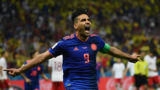 Colombia's forward Falcao celebrates after scoring during the Russia 2018 World Cup Group H football match between Poland and Colombia at the Kazan Arena in Kazan on June 24, 2018. / AFP PHOTO / Jewel SAMAD / RESTRICTED TO EDITORIAL USE - NO MOBILE PUSH ALERTS/DOWNLOADS