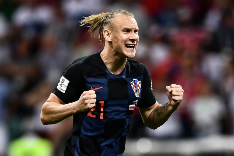 Domagoj Vida of Croatia reacts after scoring a goal by penalty kick against Russia in their quarterfinal match during the 2018 FIFA World Cup in Sochi, Russia, 7 July 2018.  Russia's 2018 World Cup is over. The hosts are out. Their campaign ended just as it had climaxed six days earlier, on penalties. But only after 120 minutes of twists and turns – 120 minutes befitting of the tournament's most unforeseen run. Russia had been ahead, then behind, then, for the second straight elimination match against a favored European side, level and headed to the penalty spot. But this time it fell, by the finest of margins, to Croatia. Ivan Rakitic, for the second time in seven days, stepped up to the penalty spot in the final round of a shootout. And just like he had on Sunday, he sent Croatia through in the World Cup knockout rounds, this time to the semifinals, where England awaits.