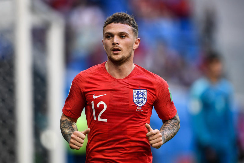 Kieran Trippier of England jogs in their third place match against Belgium during the 2018 FIFA World Cup in Saint Petersburg, Russia, 14 July 2018.