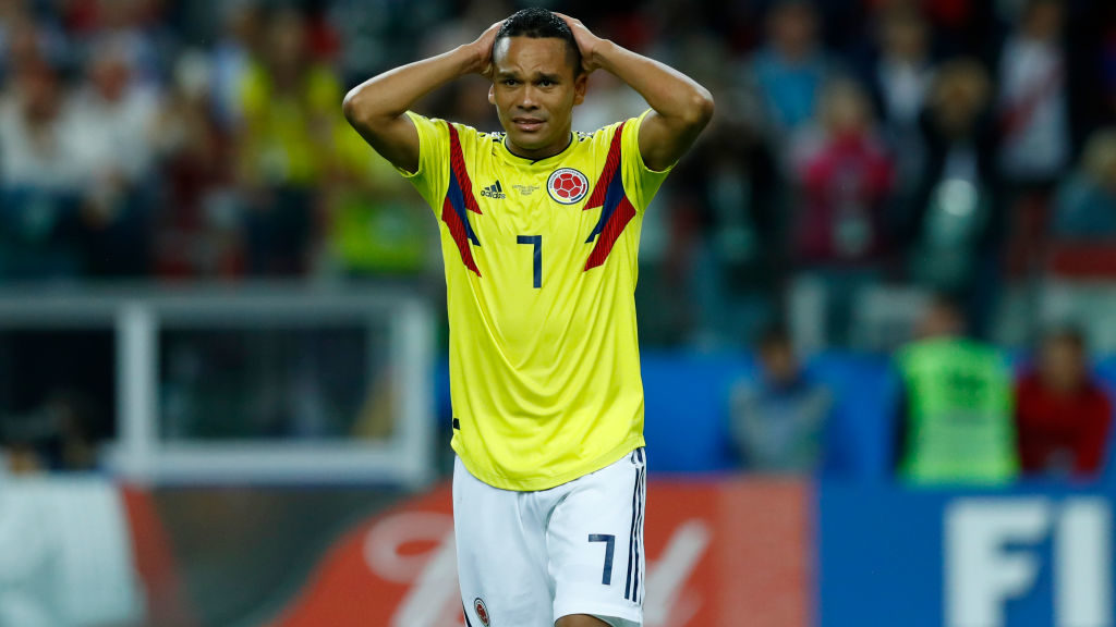 Round of 16 England v Colombia - FIFA World Cup Russia 2018 The dejection of Carlos Bacca (Colombia) at Spartak Stadium in Moscow, Russia on July 3, 2018. (Photo by Matteo Ciambelli/NurPhoto via Getty Images)