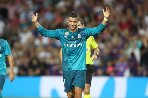 Cristiano Ronaldo of Real Madrid reacts as receives a red card during the Spanish Super Cup football match between FC Barcelona and Real Madrid on August 13, 2017 at Camp Nou stadium in Barcelona, Spain. - Photo Manuel Blondeau / AOP Press / DPPI