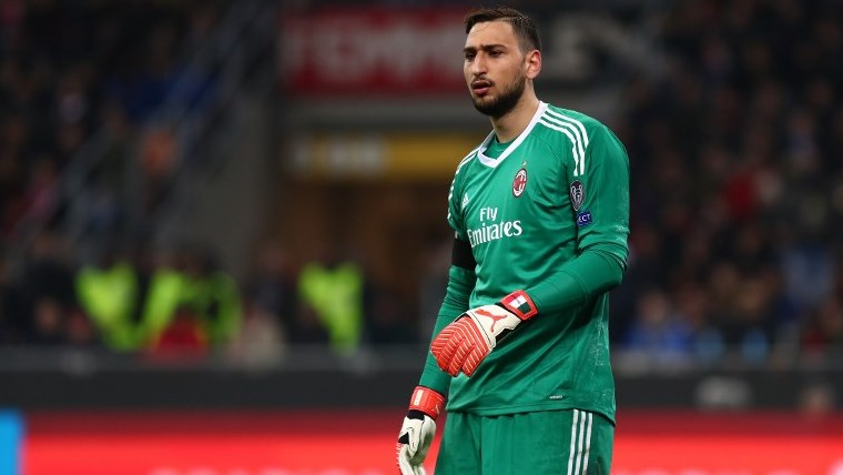 Gianluigi Donnarumma goalkeeper of Milan during the UEFA Europa League round of 16 first-leg football match AC Milan Vs Arsenal on March 8, 2018 at the Meazza Stadium - San Siro in Milan, Italy - Photo Morgese/Rossini / DPPI