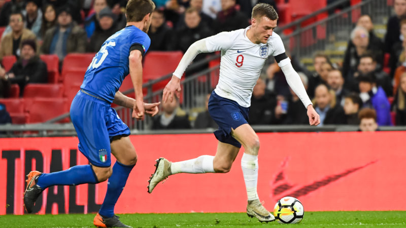 England Forward Jamie Vardy during the International Friendly football match between England and Italy on march 27, 2018 at Wembley Stadium in London, England - Photo Stephen Wright / ProSportsImages / DPPI