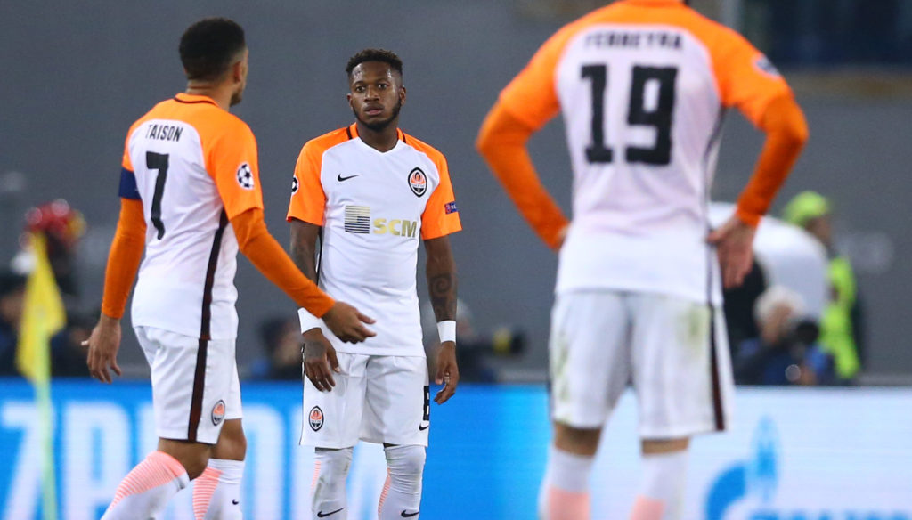 AS Roma v FC Shakhtar Donetsk : UEFA Champions League Round of 16 Second leg The disappointment of Fred of Shakhtar Donetsk at Olimpico Stadium in Rome, Italy on March 13, 2018.  (Photo by Matteo Ciambelli/NurPhoto)