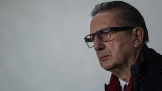 Head coach Georges Leekens of Hungary watches the match  during friendly football match between Hungary and Kazakhstan at Groupama Arena on March 23, 2018 in Budapest, Hungary. (Photo by Robert Szaniszló/NurPhoto)