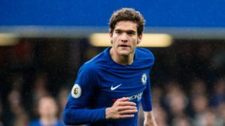 Chelsea (3) Marcos Alonso during the English championship Premier League football match between Chelsea and West Ham United on April 8, 2018 at Stamford Bridge in London, England - Photo Sebastian Frej / ProSportsImages / DPPI