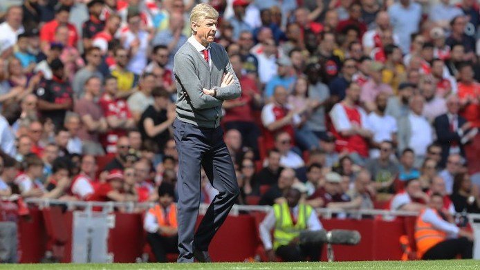 Arsenal manager Arsene Wenger during the English championship Premier League football match between Arsenal and West Ham United on April 22, 2018 at the Emirates Stadium in London, England - Photo Bennett Dean / ProSportsImages / DPPI