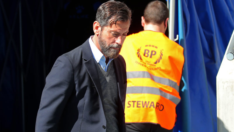 Quique Sanchez Flores during the match between RCD Espanyol and Depoortivo Alaves, for the round 30 of the Liga Santander, played at the RCD Espanyol Stadium on 01th April 2018 in Barcelona, Spain.  