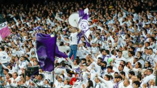Fans of Real Madrid during the UEFA Champions League, quarter final, 2nd leg football match between Real Madrid CF and Juventus FC on April 11, 2018 at Santiago Bernabeu stadium in Madrid, Spain - Photo Oscar J Barroso / Spain DPPI / DPPI