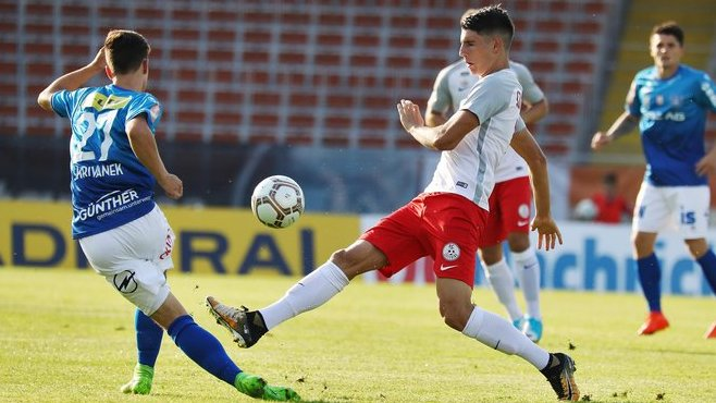 LINZ,AUSTRIA,04.AUG.17 - SOCCER - Sky Go Erste Liga, FC Blau Weiss Linz vs FC Liefering. Image shows Dominik Szoboszlai (Liefering). Photo: GEPA pictures/ Matthias Hauer - For editorial use only. Image is free of charge.