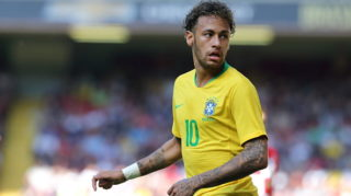 LIVERPOOL, ENGLAND - JUNE 03: Neymar of Brazil during the International friendly match between Croatia and Brazil at Anfield on June 3, 2018 in Liverpool, England. (Photo by James Williamson - AMA/Getty Images)