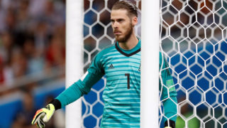 SOCHI, RUSSIA - JUNE 15: David De Gea of Spain gestures during the 2018 FIFA World Cup Russia Group B match between Portugal and Spain at the Fisht Stadium in Sochi, Russia on June 15, 2018. Fatih Aktas / Anadolu Agency