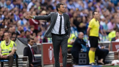 MADRID, SPAIN - MAY 27: Coach Luis Enrique Martinez Garcia of FC Barcelona during the Copa Del Rey Final between FC Barcelona and Deportivo Alaves at Vicente Calderon Stadium on May 27, 2017 in Madrid, Spain. (Photo by Power Sport Images/Getty Images)