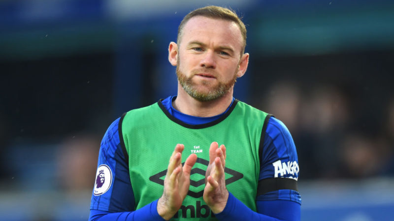 LIVERPOOL, ENGLAND - JANUARY 20: Wayne Rooney of Everton warms up prior to the Premier League match between Everton and West Bromwich Albion at Goodison Park on January 20, 2018 in Liverpool, England.  (Photo by Tony Marshall/Getty Images)