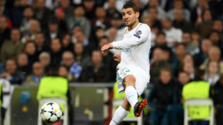 MADRID, SPAIN - MAY 01: Mateo Kovacic of Real Madrid in action during the UEFA Champions League Semi Final Second Leg match between Real Madrid and Bayern Muenchen at the Bernabeu on May 1, 2018 in Madrid, Spain. (Photo by Etsuo Hara/Getty Images)