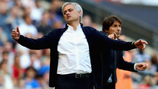 LONDON, ENGLAND - MAY 19: Manager of Manchester United Jose Mourinho reacts during the Emirates FA Cup Final between Chelsea and Manchester United at Wembley Stadium on May 19, 2018 in London, England.  (Photo by Chris Brunskill Ltd/Getty Images)