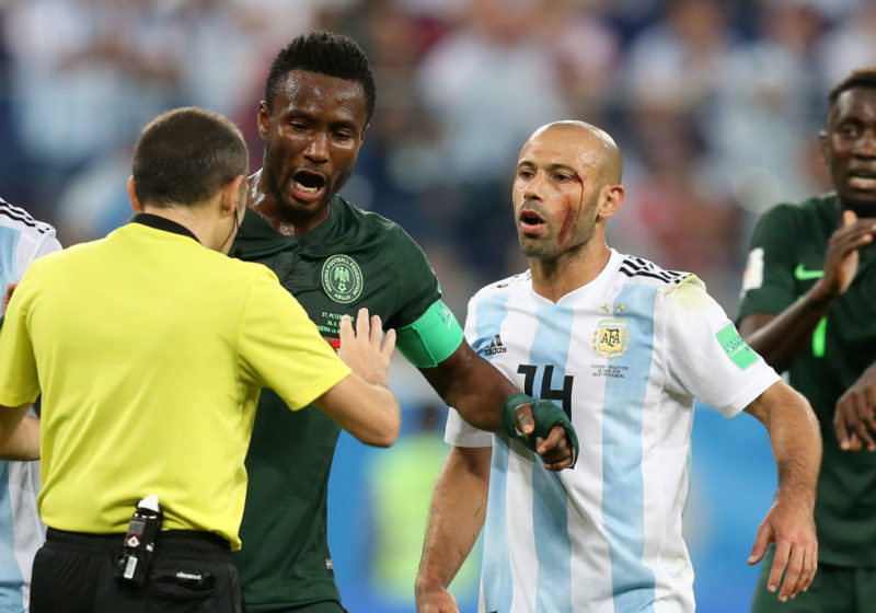 during the 2018 FIFA World Cup Russia group D match between Nigeria and Argentina at Saint Petersburg Stadium on June 26, 2018 in Saint Petersburg, Russia.
