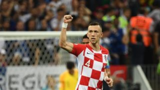 Croatia's forward Ivan Perisic celebrates a goal during the Russia 2018 World Cup final football match between France and Croatia at the Luzhniki Stadium in Moscow on July 15, 2018. / AFP PHOTO / FRANCK FIFE / RESTRICTED TO EDITORIAL USE - NO MOBILE PUSH ALERTS/DOWNLOADS