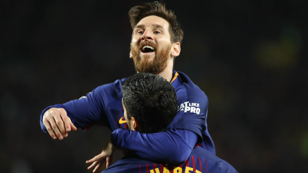 Celebration Goal Lionel Messi (FC Barcelone) during the Spanish championship Liga football match between FC Barcelona and Real Madrid on May 6, 2018 at Camp Nou stadium in Barcelona, Spain - Photo Laurent Lairys / DPPI