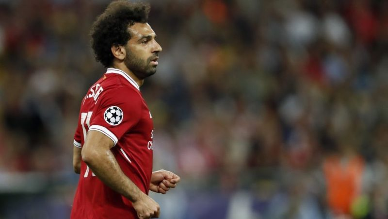 Mohamed Salah of Liverpool FC during the UEFA Champions League final between Real Madrid and Liverpool on May 26, 2018 at NSC Olimpiyskiy Stadium in Kyiv, Ukraine(Photo by VI Images via Getty Images)