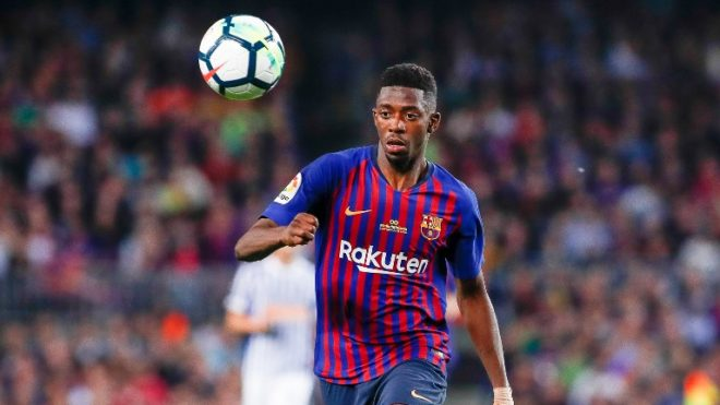 Ousmane Dembélé of FC Barcelona during the Spanish championship La Liga football match between FC Barcelona and Real Sociedad on May 20, 2018 at Camp Nou stadium in Barcelona, Spain - Photo Andres Garcia / Spain DPPI / DPPI