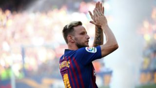 Ivan Rakitic during the presentation of the team 2018-19 before the match between FC Barcelona and C.A. Boca Juniors, corresponding to the Joan Gamper trophy, played at the Camp Nou, on 15th August, 2018, in Barcelona, Spain.  
