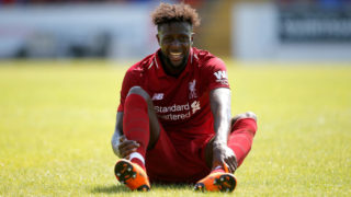 CHESTER, ENGLAND - JULY 07: Divock Origi of Liverpool during the Pre-season friendly between Chester City and Liverpool at Swansway Chester Stadium on July 7, 2018 in Chester, United Kingdom. (Photo by Malcolm Couzens/Getty Images)