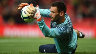 Tottenham Hotspur's French goalkeeper Hugo Lloris warms up for the English Premier League football match between Manchester United and Tottenham Hotspur at Old Trafford in Manchester, north west England, on August 27, 2018. / AFP PHOTO / Oli SCARFF / RESTRICTED TO EDITORIAL USE. No use with unauthorized audio, video, data, fixture lists, club/league logos or 'live' services. Online in-match use limited to 120 images. An additional 40 images may be used in extra time. No video emulation. Social media in-match use limited to 120 images. An additional 40 images may be used in extra time. No use in betting publications, games or single club/league/player publications. /